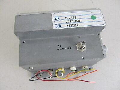 Cti P-2363 Frequency Source Oscillator Freq. 2225 Mhz Sma Rf Microwave Lab