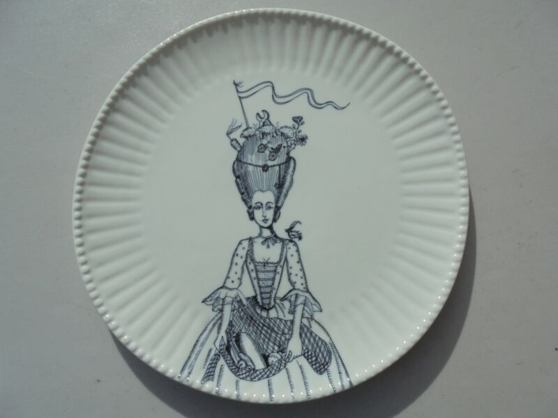 Florence Balducci for Anthropologie Ladies in Waiting Dinner Plate