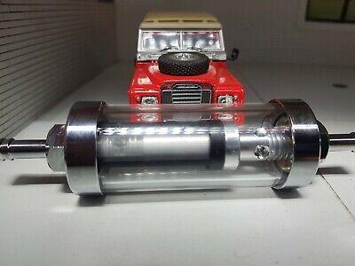 Land Rover Series 2a 3 2.25 2.6 Chrome Glass Fuel Petrol Inline Filter Reusable