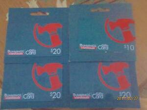 Bunnings Gift Cards worth $70.00 or swap for Caltex / Woolworths Terrigal Gosford Area Preview