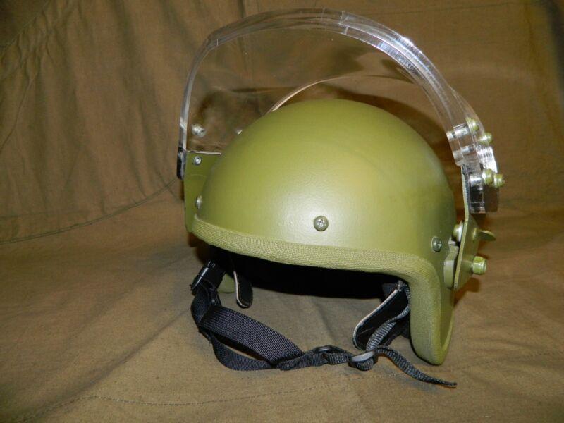 Russian ZSh-1-2M assault helmet replica with visor