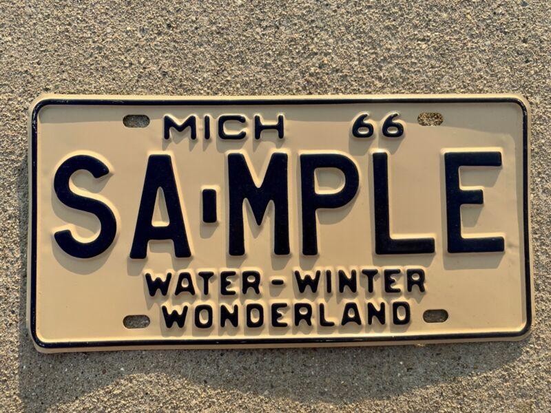 1966 Michigan Sample License Plate