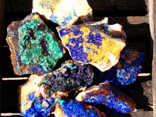 Natural AZURITE Rough - 2000 CARAT Lot- Rock Specimen- Lapidary- Nice Color