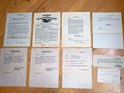 WW I 10 MILITARY PAPERS - PERSHING / PROMOTION / EMBARKATION / PASSENGER DOC