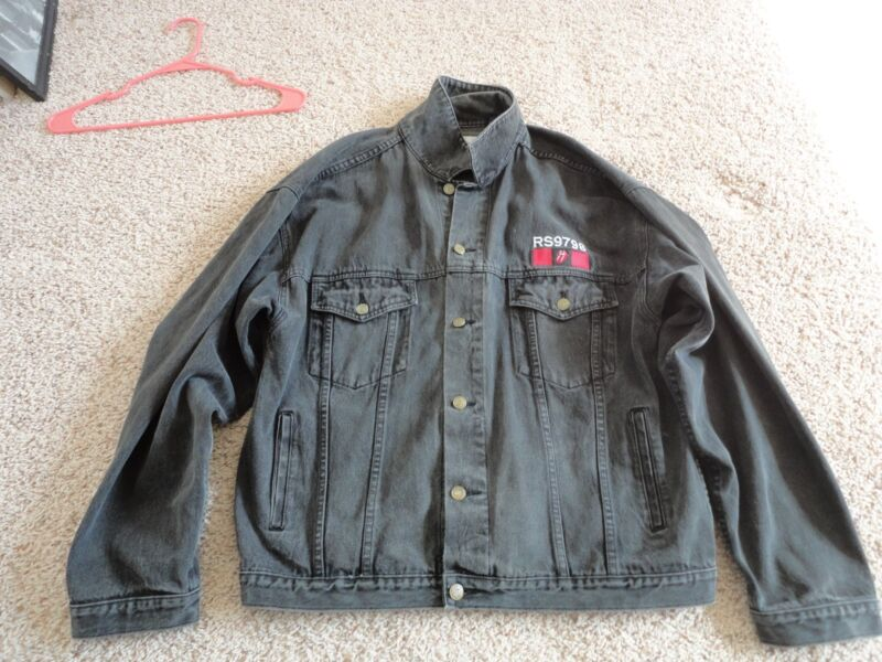 rolling stones jacket 97/98 tour xlg embroided Vintage