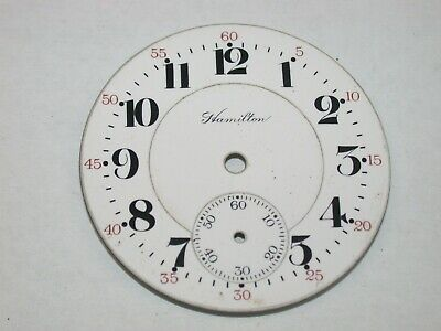 Hamilton 16 Size 992 Railroad Enamel Pocket Watch Dial. 120G