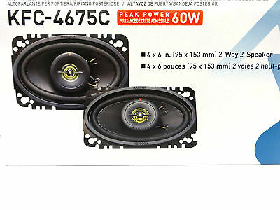 "2 Kenwood KFC-4675C 4x6"" 60 Watt 2-Way Car Audio Speakers Brand New"