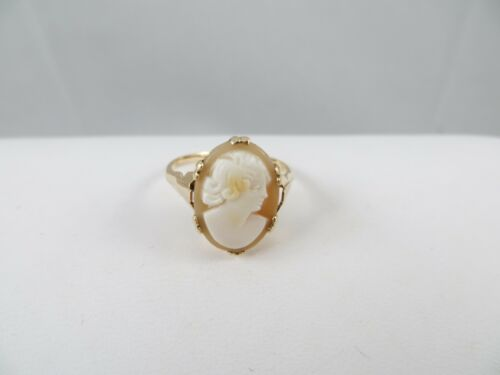 Antique Victorian 9K, 9CT Cameo Ring Size 6.5