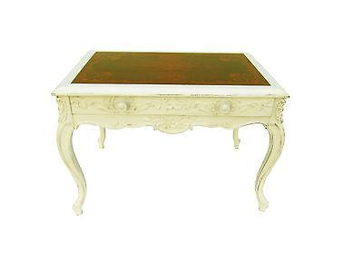 French Carved Marquetry Shabby Accent Table Paris Apartment Cottage - Marquetry Accents