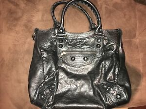 Authentic Black Balenciaga Purse