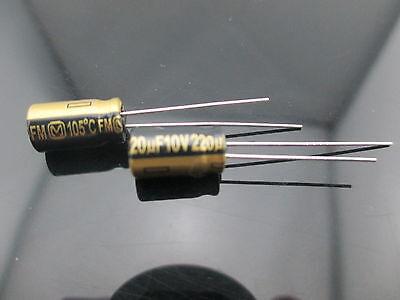 12pcs Japan Panasonic Fm 220uf 10v 220mfd Impedance Electrolytic Capacitors