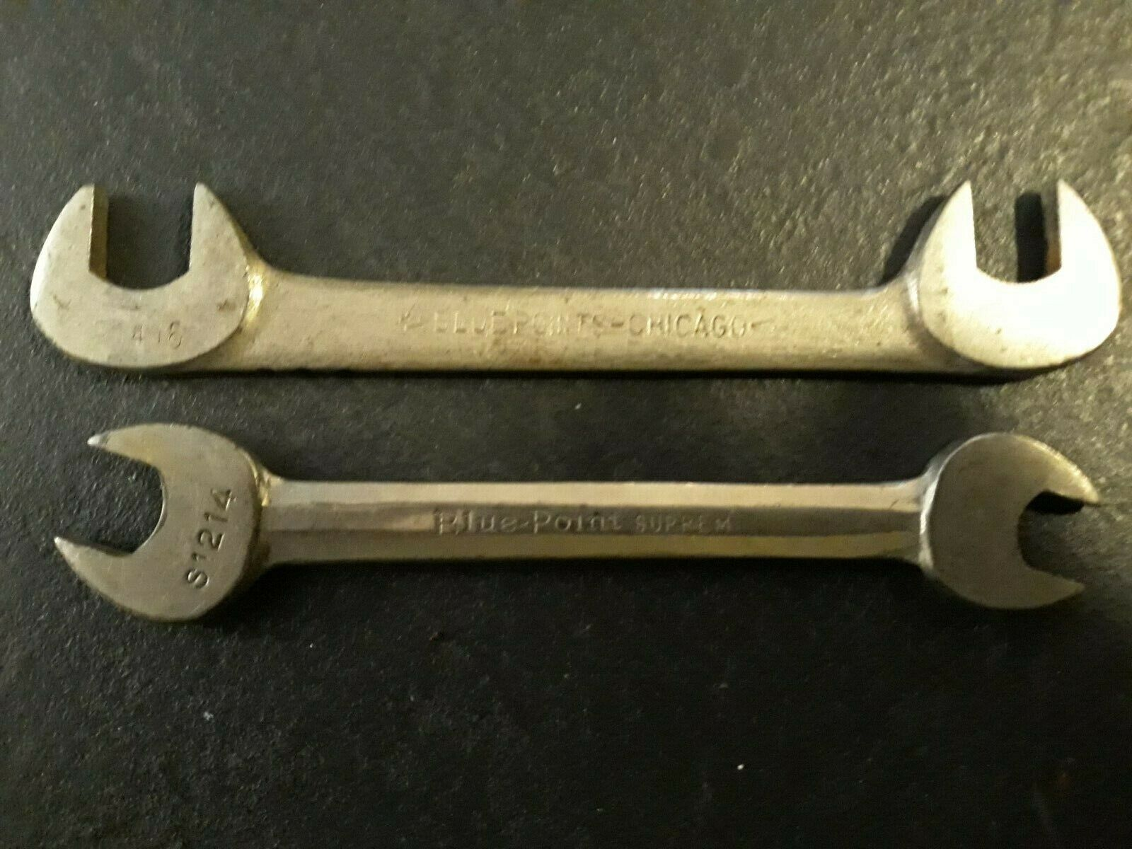 vintage blue point wrenches R1416 and S1214