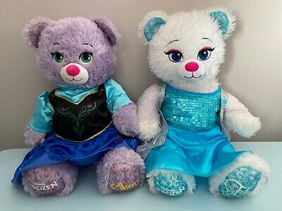 BUILD A BEAR DISNEY FROZEN ANNA & ELSA SOFT PLUSH TOY TEDDY TEDDIES Non Talking