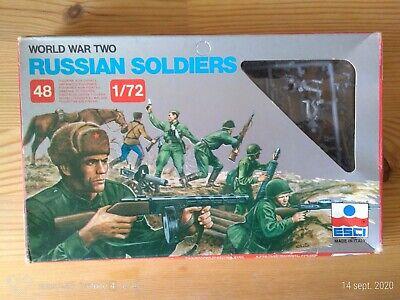 Niños Soldados de Plástico ESCI 1 /72è Ruso Soldiers WW2 De Grupo