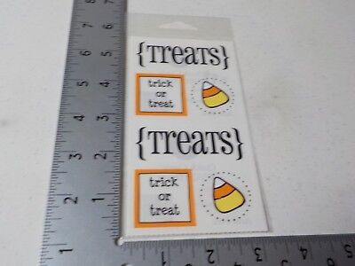 Quick Halloween Treat (SRM QUICK CARDS HALLOWEEN TREATS CANDY CORN WORDS STICKERS NEW)