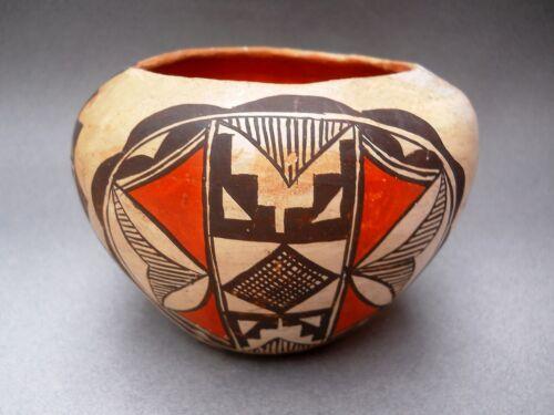>QUARANTINE SALE< Vintage ACOMA SEED JAR Polychrome Pottery Bowl - RARE