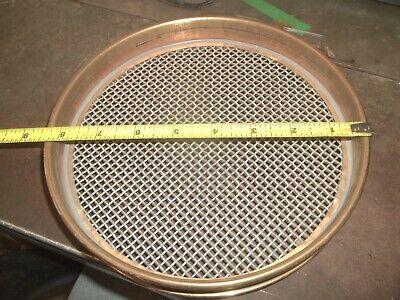 Gilson Us Standard Test Sieve 8 3.35mm 0.132 No. 6 Brass 655