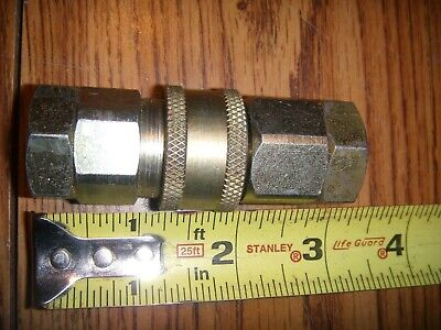 Air Hose Quick Disconnect Change Snap Dbl Coupler Male Female For 38 Inch Npt