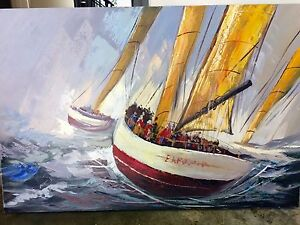 Large Nautical Painting Varsity Lakes Gold Coast South Preview