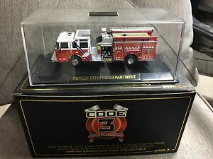 Code 3 Die Cast Fire Trucks 1/64 scale