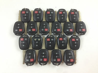 LOT OF 20 TOYOTA COROLLA 14-17 KEY LESS ENTRY REMOTE OEM FOB CAR H-CHIP 8A ALARM