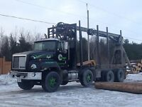 Log truck for hire