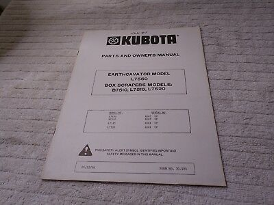 Kubota Tractor Parts And Owners Manual Earthcavator Box Scrapers 70000-70033