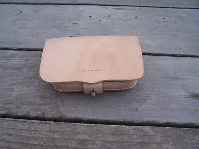 Civil War Csa Pistol Cartridge Ammo Box Natural Leather