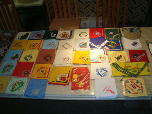 35 Vintage Boy Scout Scarfs Neckerchiefs All Different 1960