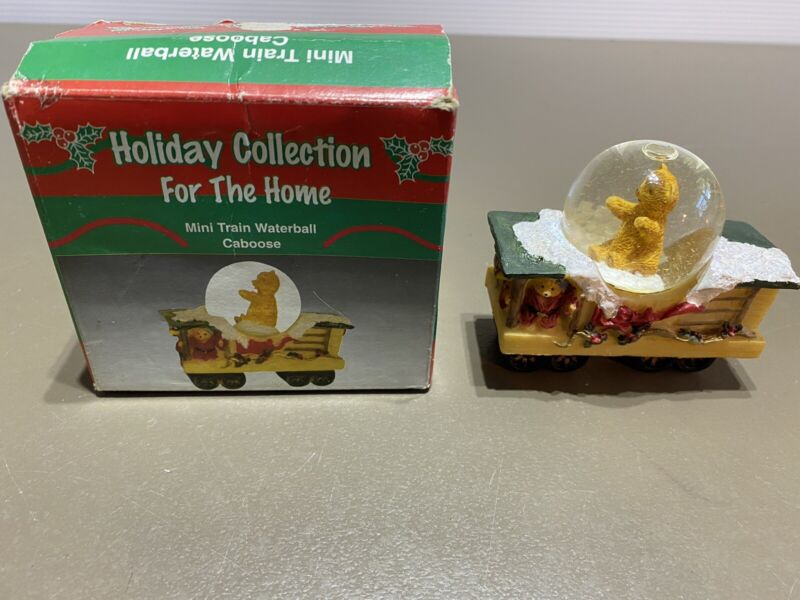 """HolidayVintage collection train caboose Water Ball 3"""" long with box."""