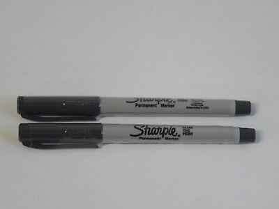 2- Sharpie Permanent Marker, Ultra Fine Point, Slate Gray - Gray Sharpie