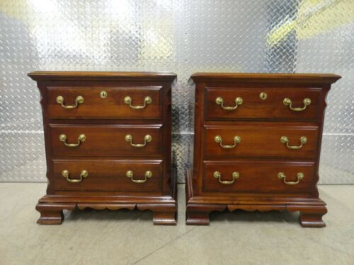 Pair Pennsylvania House Solid Cherry Traditional Style Nightstands #50-2932