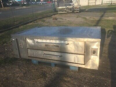 2 Bakers Pride Y 800 Natural Deck Gas Double Pizza Ovens Stones Legs Included