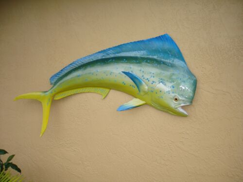 """60"""" Bull Dolphin Half Fish Mount Replica - 10 Business Day Production Time"""
