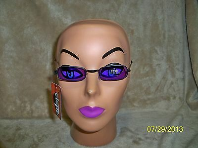 PURPLE AND BLACK VAMPIRE GOTHIC GLASSES COSTUME DRESS ACCESSORY ELS82602