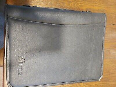 Bentleyportfolio Binder Leather Folder Notepad Document Holder 8.5x11 Black