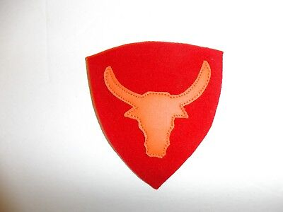 b2520 US Army 1930's-WW 2 12th Division Philippine patch red orange PA14
