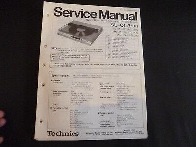 Original Service Manual Technics SL-QL5 gebraucht kaufen  Hohenstein