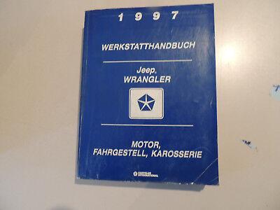 Reparaturanleitung Werkstatthandbuch Jeep Wrangler  2.5 4.0L Modelljahr 1997 - gebraucht kaufen  Flensburg