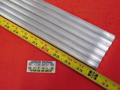 6 Pieces 12 Aluminum 6061 Round Rod 36 Long .50 Solid T651 Lathe Bar Stock