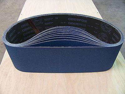 Premium Zirconia X-weight Sanding Belts 4 X 24 10 - Pack 80-grit