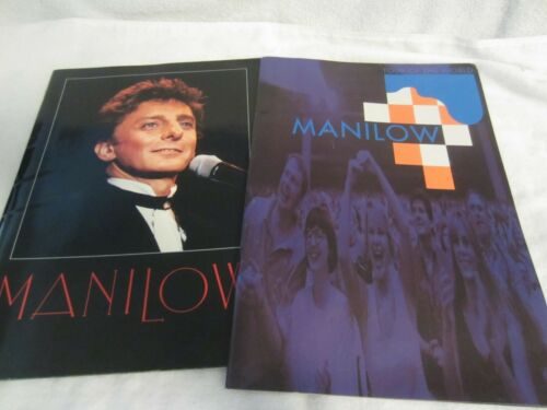 BARRY MANILOW 2 CONCERT PROGRAM LOT