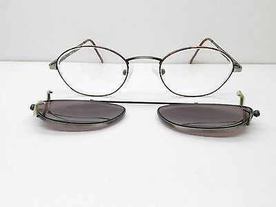 Royce INTL Eyewear 507C EYEGLASSES FRAMES + Clip-On 49-20-140 Oval TV3 34670
