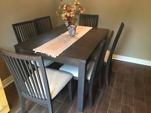 Brand New 6 Set Wooden Dinning Table & Chairs