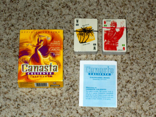 Canasta Caliente Card Game CARDS SEALED - Parker Brothers 2001 Complete