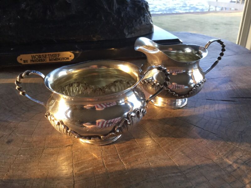 Vintage B.S. CO Sterling Silver Sugar And Creamer