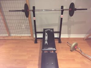 Bench Press with 25 lb weights