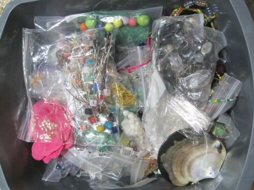 Lot of Loose Beads and Findings for Jewelry Making