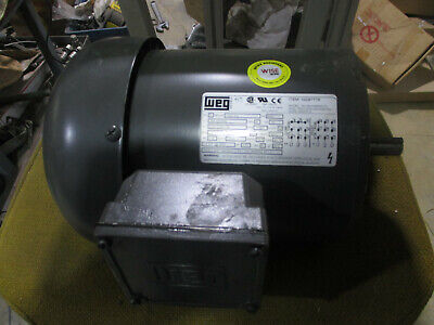 Weg 3 Phase Electric Motor 12 Hp Mod.5012e53eb56cfl 56c Frame