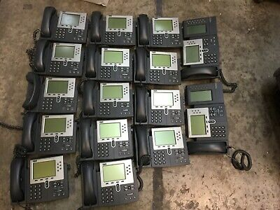 Lot Of 16 Cisco 7961g Cp-7961g Ip Telephones W Handset Stand Free Shipping